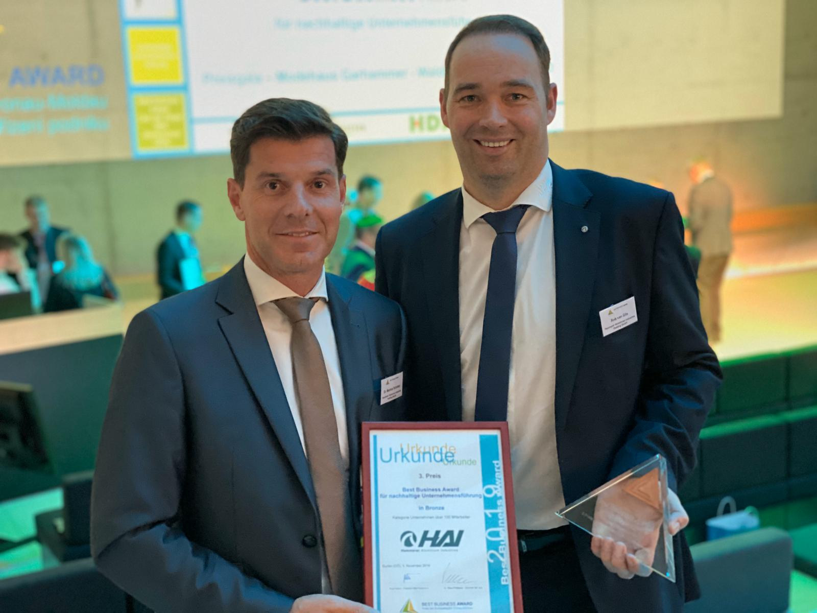 HAI - News - HAI ausgezeichnet mit Best Business Award